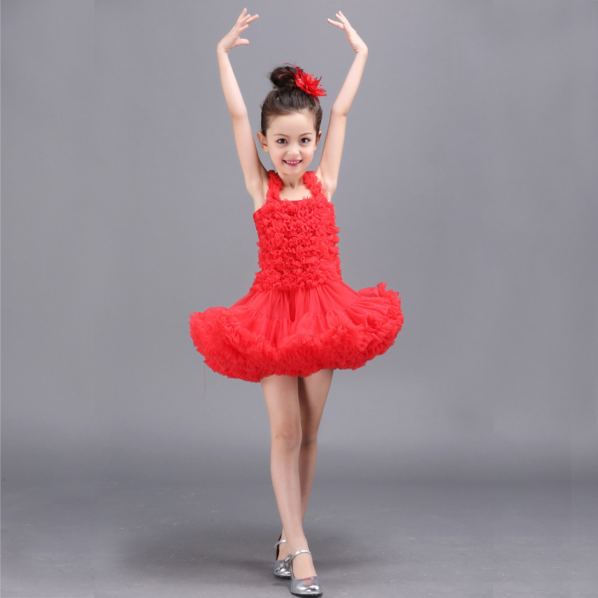 2018 Hot Sale Girls Princess tutu dress Childrens princess party wedding dresses kids sleeveless mesh solid ball gown dress