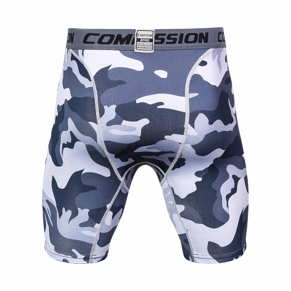 4c145524980 Mens 3D printing Compression Shorts Summer Camouflage Bermuda Shorts  Fitness Men Cossfit Bodybuilding Tights Camo Fitness Shorts-in Casual Shorts  from Men s ...