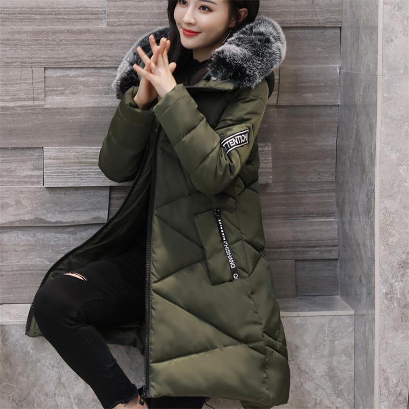 2017 New Winter Women Down Jackets Solid Fashion Thicken Coats Slim Hooded Plus Size Duck Long Down Parka Warm Outerwear