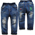 3846 azul marinho calça casual calça jeans primavera outono bebê meninos calças do bebê calças de brim do bebê calças de brim menino crianças 2016 nova