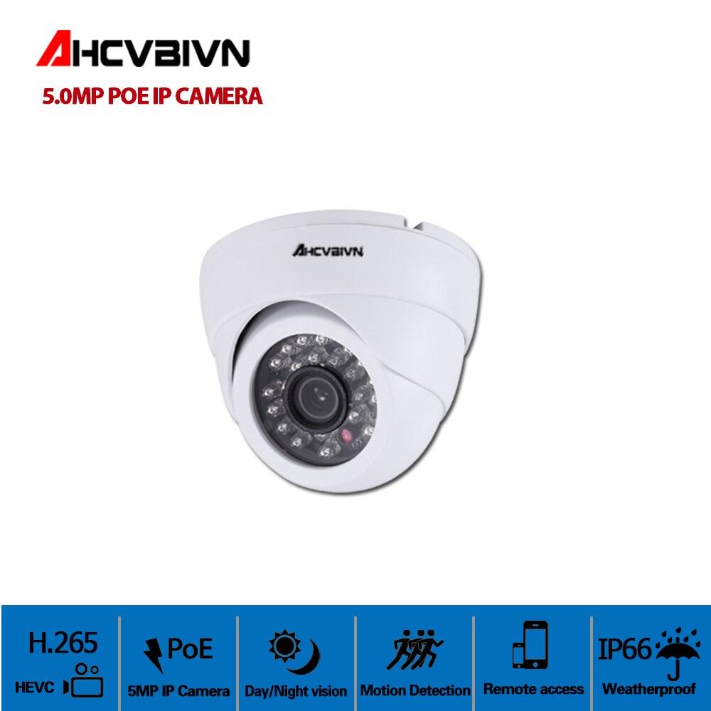 5.0MP POE IP CCD caméra 5.0 mégapixels en plein air Onvif caméras de vidéosurveillance dôme intérieur caméras de vidéosurveillance en plein air étanche