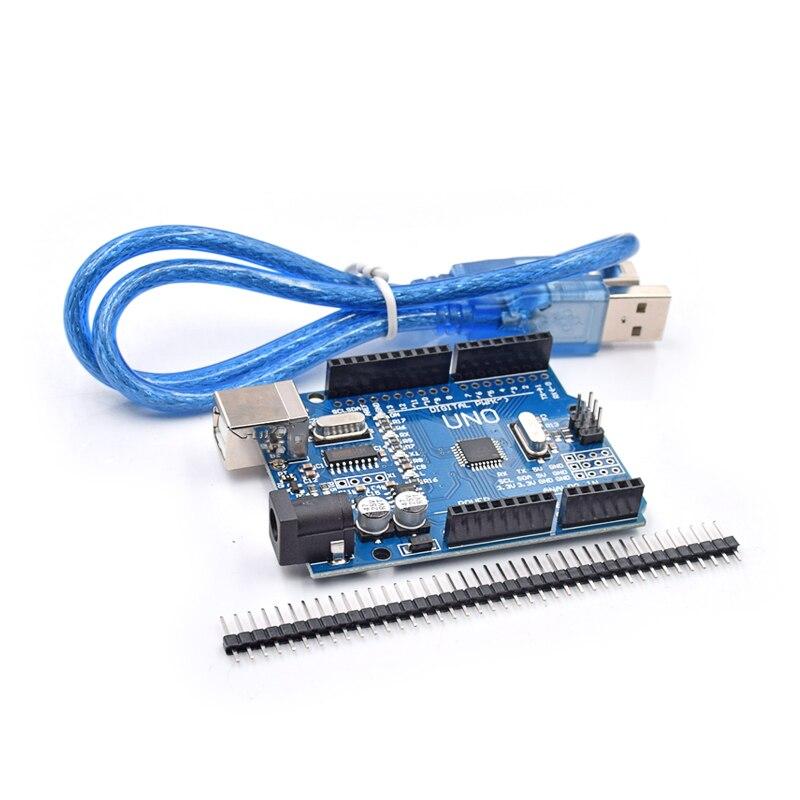 5 pcs/lot UNO R3 MEGA328P CH340 CH340G pour Arduino UNO R3 avec USB Câble