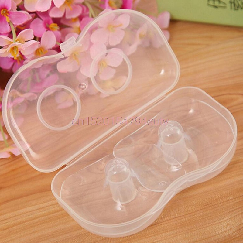 Nipple Shield Protector Silicone Baby Breast Milk Feeding 2Pcs Soft Ultra-thin #h055#