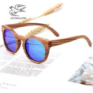 Image 4 - Womens Bamboo Sunglasses Polarized Zebra Wood Glasses Handmade Vintage Wooden Frame Mens Driving Sunglasses Cool Polarization
