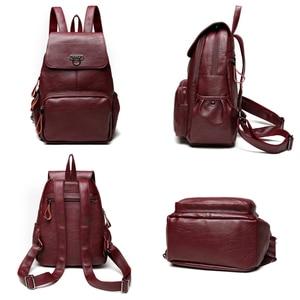 Image 5 - Genuine Leather Backpack Bags For Women 2019 Large Capacity Women Backpack Waterproof  Youth School Bags