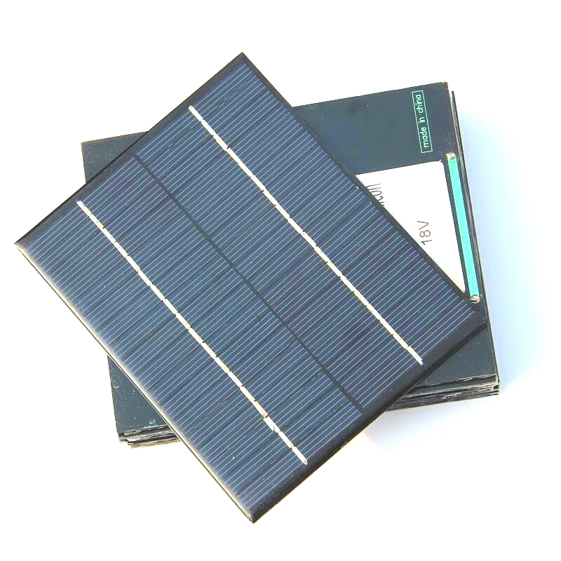 BUHESHUI 18V 2W Mini Solar Cell DIY Polycrystalline Solar Panel Solar Power Battery Charger 110*136*3MM Epoxy Wholesale 10pcs-in Solar Cells from Consumer Electronics    3