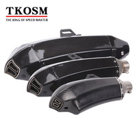 TKOSM Universal Motorcycle Modified Exhaust pipe For Yamaha YZF R125 YZF R15 YZF R25 YZF R3 MT-02 MT-25 YZF R1/R1M MT-01