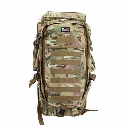 9.11 Tactical sports bag Full Gear Rifle Combo Backpack Multi Camo