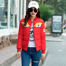Autumn and winter new women 's cotton short paragraph jacket thin section cotton sweater round neck collar Slim jacket