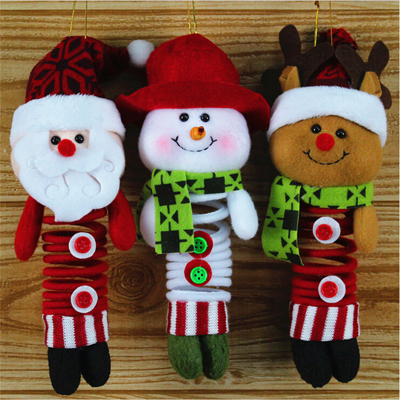 Mrs Claus Doll for Kids Felt Santa Claus Ornaments for Christmas Tree Plush Xmas Wall Decor for Home Unique Christmas Set Garland Decorations for Home