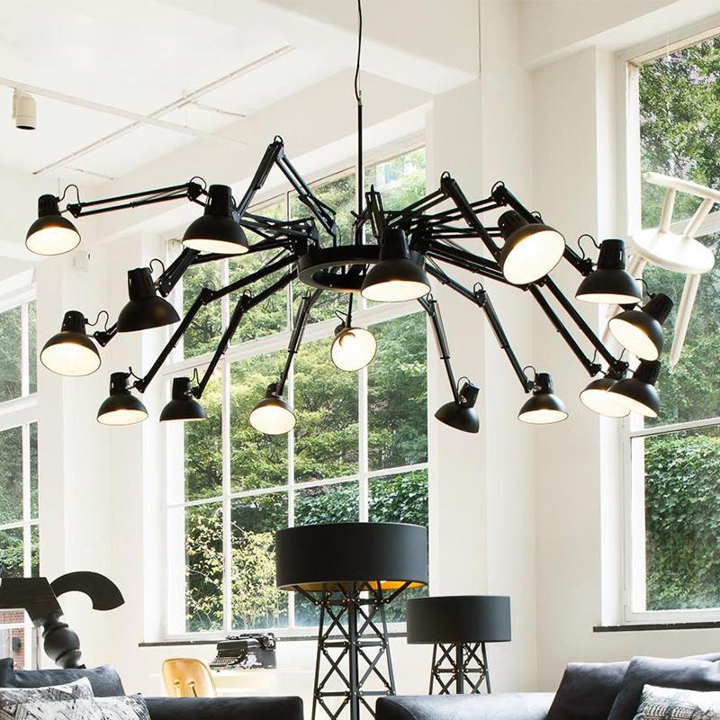 Kronleuchter Lichter Retro Designer Lampe LED Spinne Kronleuchter Für  Wohnzimmer Esszimmer Hotel Beleuchtung Kostenloser Versand