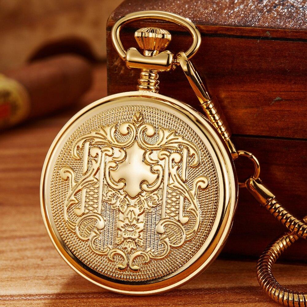 Luminosa Mecânica Pocket Watch Fob Cadeia Das