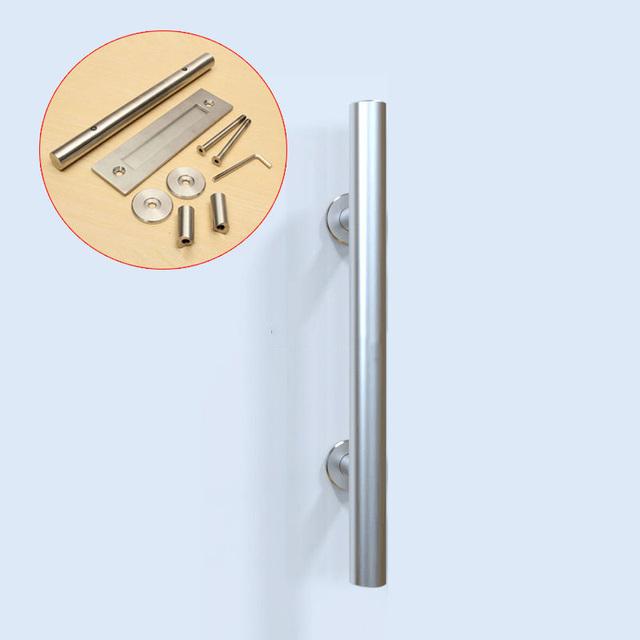 Top Projetado 4 PCS Aço Inoxidável Barn Door Handle Pull & CP431 maçaneta maçaneta da porta De correr de Madeira