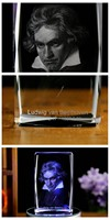 best gift limited edition Decor 3D Ludwig van Beethoven Crystal Image Decoration