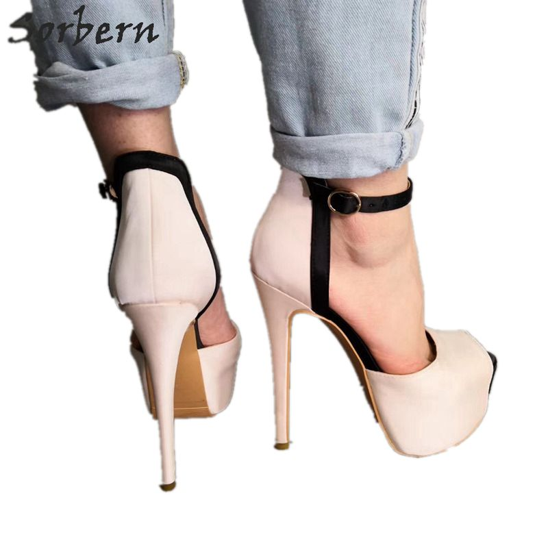 Sorbern Women High Heels Pumps Shoes Zapatos Mujer 2019 Women Shoes High Heel Buckle Ladies Party Pumps Shoes Custom ColorSorbern Women High Heels Pumps Shoes Zapatos Mujer 2019 Women Shoes High Heel Buckle Ladies Party Pumps Shoes Custom Color