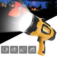 New Powerful LED Spotlight 10W Super Bright Portable Light USB Rechargeable Lantern Outdoor Search Light Spotlight