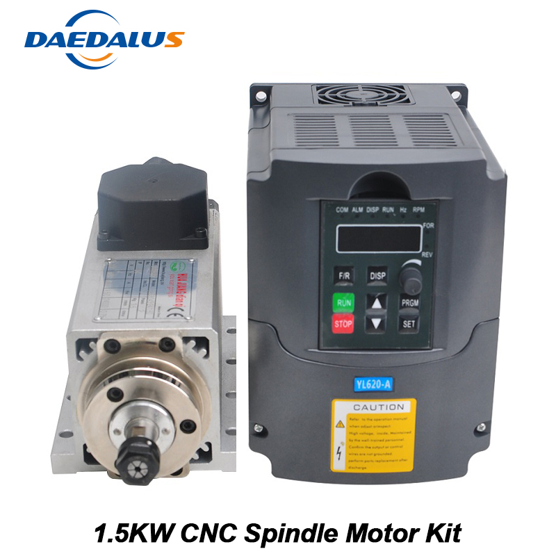 CNC шпинделя 1.5KW с воздушным охлаждением шпинделя ER11 фрезерные машины 220 В VFD преобразователь 13 шт. ER11 цанговый для гравировки