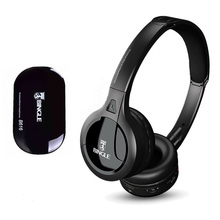 Professional Wireless TV Headset Stereo Headphones with transmitter Home FM Radio TV Over ear Headset For Computer Phone MP3