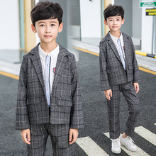 2018 New Autumn Kids Blazers Boys Suits Single Breasted 2Pcs