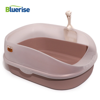 Bluerise Semi closed Cats Toilet Durable Restroom For Cats Sandbox Cat Anti splash Toilet Training Cats Convenient Tray For Pet