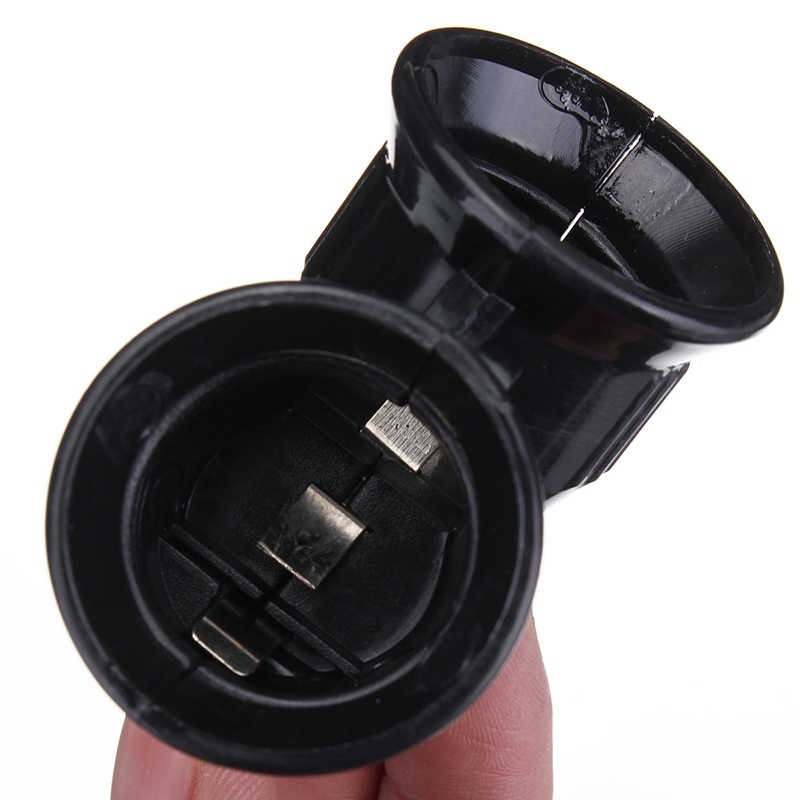 Schwarz Neue E27 Basis zu 2 Schraube Licht Lampe Sockel Konverter Splitter Adapter LED Halter