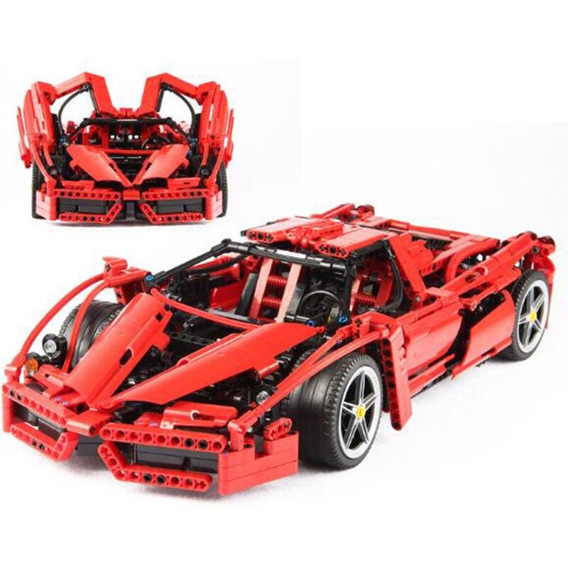 Bela 9186 Technique voiture de course Enzo Ferraried1: 10 blocs de construction compatible avec Legoed 8653 Racer Modèle jouet de construction cadeau d'anniversaire