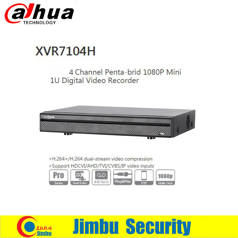 Dahua XVR 1080P Digital Video Recorder P2P XVR7104H 4CH Support HDCVI/AHD/TVI/CVBS/IP video inputs CCTV DVR dahua xvr video recorder 16ch 1080p replace nvr and dvr dh xvr7216an p2p support hdcvi ahd tvi cvbs ip 1u digital video recor