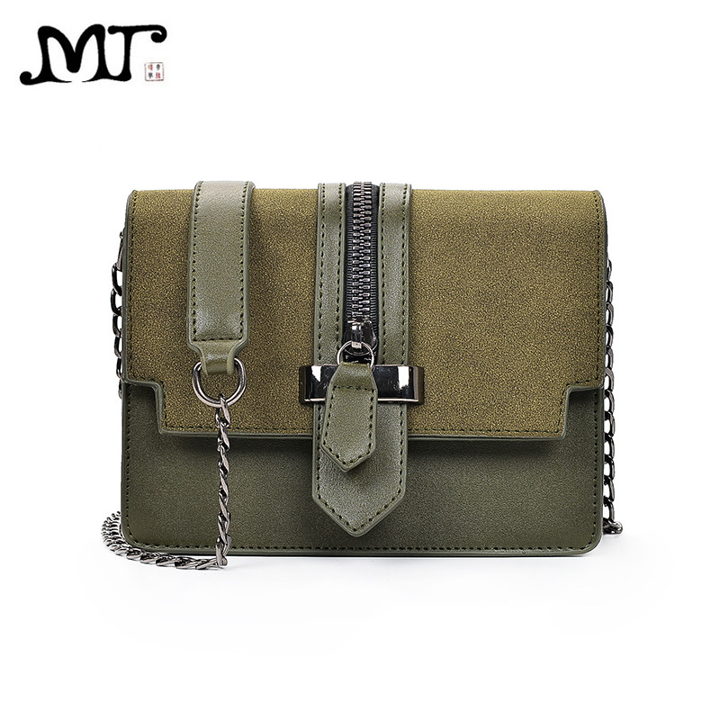 MJ Women Leather Handbags Chic PU Leather Chain Bag Female Messenger Bag  Korean Style Ladies Mini Crossbody Flap Bags for Girls c5f4d8b13a79c