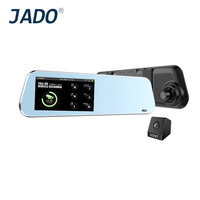 JADO D220 Full HD 1296P Car Camera 4 5 Touch Screen Car Dvr Mirror With Rearview