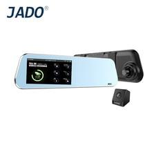 JADO D220 Car Rearview Mirror Dvr 4 5 Touch Screen Full HD 1296P Car Camera Dvrs