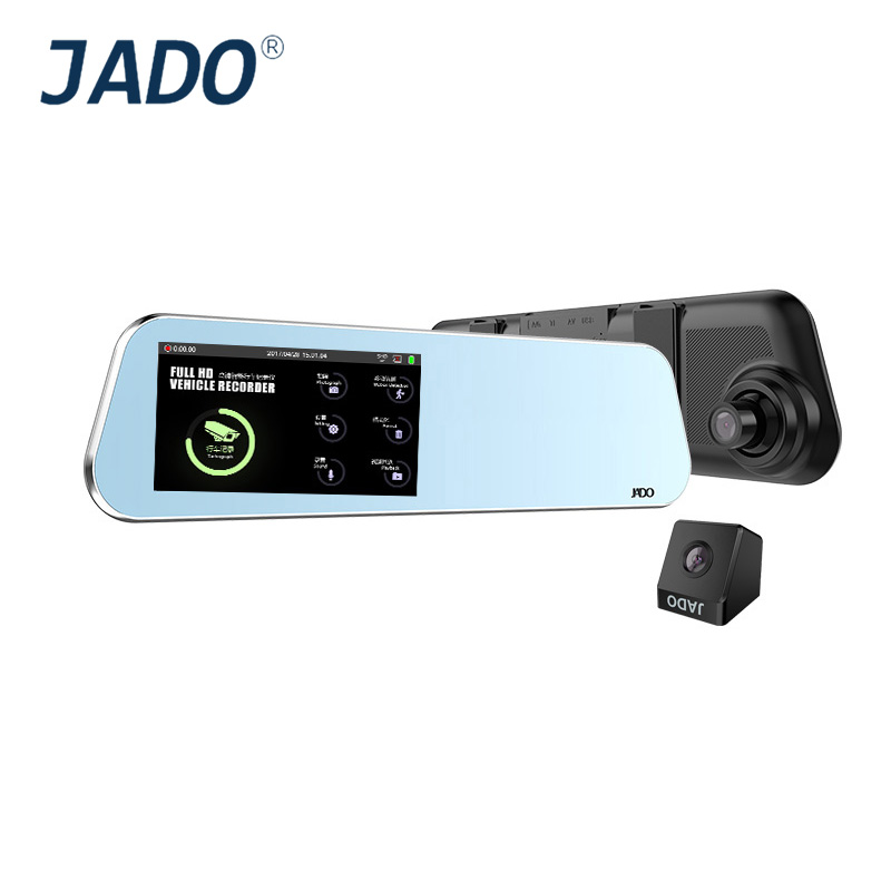 Jado D220 espejo retrovisor DVR 4.5 pantalla táctil Full HD 1296 P/1080 p Cámara del coche DVR grabador de vídeo registrador Dash cam