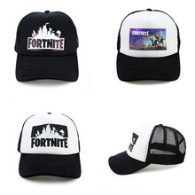 3a7d3e97e22b0 Adjustable Game Fortnite Trucker Cap Teenage Summer Sun Hats Fortnite Fans  Cool Mesh Outdoor Baseball Caps Kid Gift Figure Toy