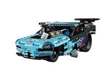 ЛЕЛЕ Техника Город Серии Drag Racer Автомобиль Строительные Блоки Кирпичи Модель Детей Игрушки Marvel Совместимость Legoe
