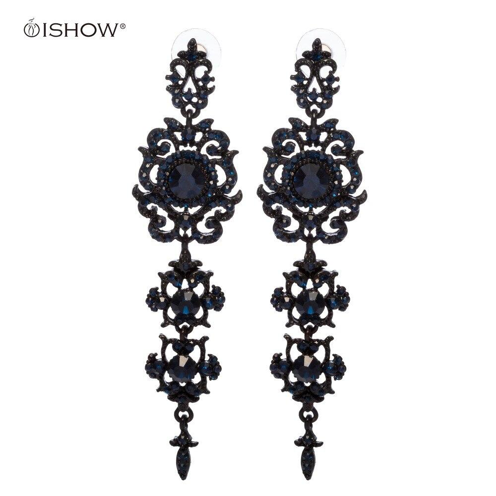 Новый Кристалл инкрустированные серьги для женщин длинные серьги-капли букле d'oreille Longue букле d'oreille Bijoux свадебные серьги подарок