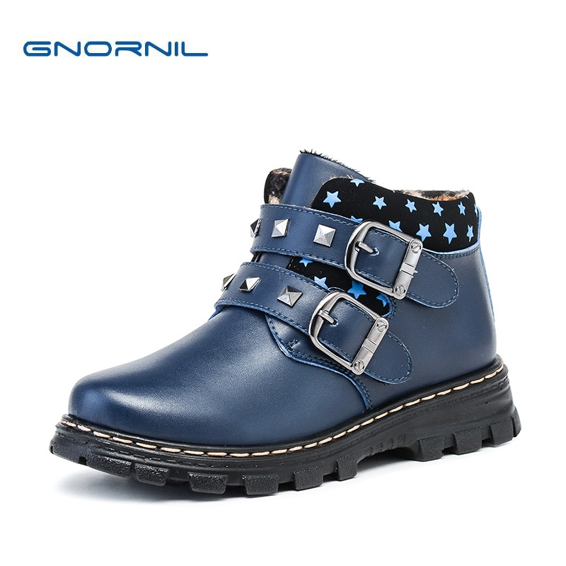 Clearance Sale Children Winter Boots Genuine Leather Boys