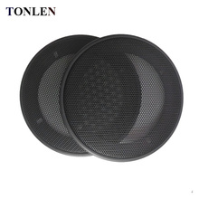 TONLEN 2pcs 4 inch Speaker Net Cover Round Protective Mesh Grille Speakers Plastic Frame Cases