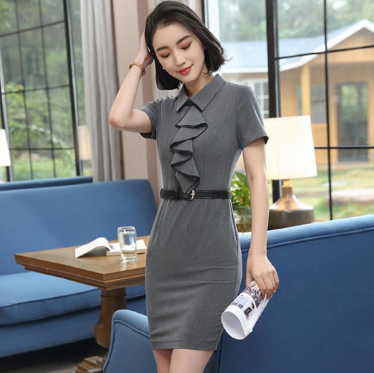 Летний Новый южнокорейский модное платье.