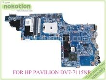 laptop motherboard for hp pavilion DV7-7000 DV7-7115NR 682220-001 AMD FS1 DDR3