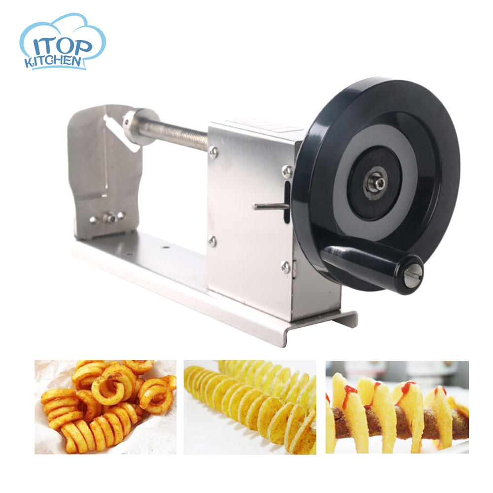 ITOP H002 3 function Vegetable Cutter Twisted Potato Slicer Spiral Carrot Cutting Machine