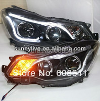 For 2012-2014 Year for Subaru XV LED Strip Head Light with Bi Xenon Projector Lens TLZ