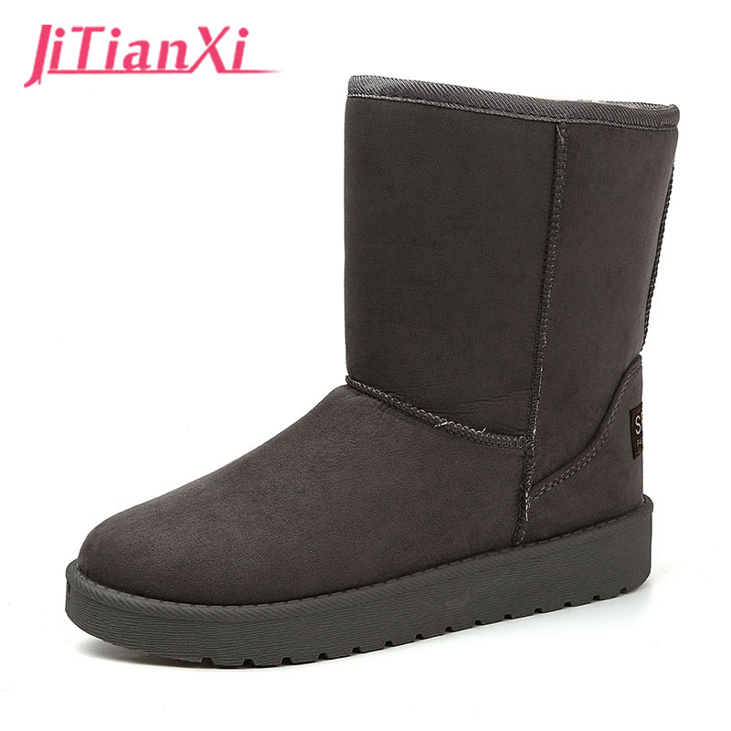women snow boots winter 2017 genuine Suede leather Red Ankle Rubber Boots Fashion female Winter Shoes Cheap Winter slip on Boot 2016 hot sale male snow boots genuine leather ankle suede snow boots winter shoes for men and women mens boot shoe 35 48