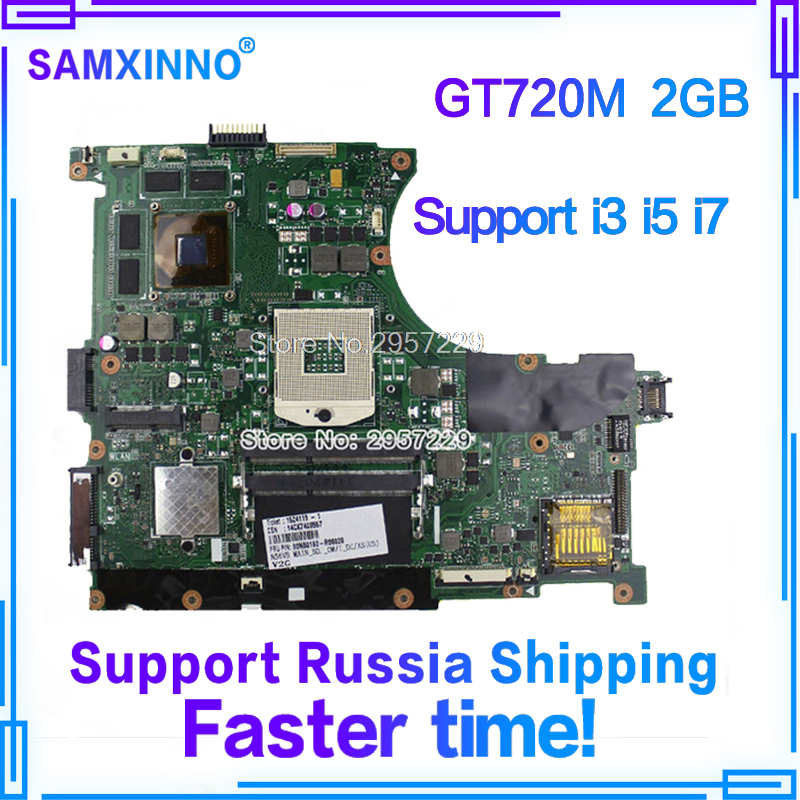 n56vm Rev 2.3 laptop motherboard Fit N56V N56VM N56VJ N56VZ N56VB non-integrated N14P-GE-OP-A2 GT720M 2GB system motherboard S-6