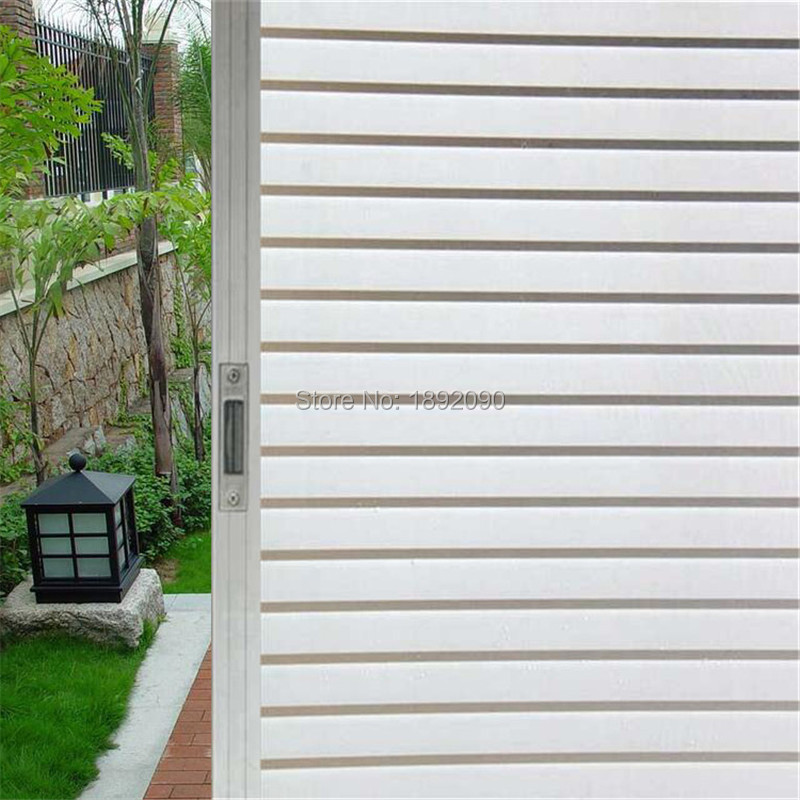 90*200 cm Adhesive Thickening Retro Windows Paste Paper-cut Frosted Window Sticker Paper Toilet Glass Film Wide Stripes Bathroom