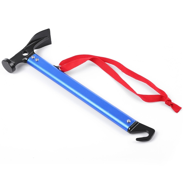 New Ultra-light Aluminum Multifunction Camping Tent Peg Nail Hammer Outdoor Hiking Tent Mallet Camp Accessories With Hook