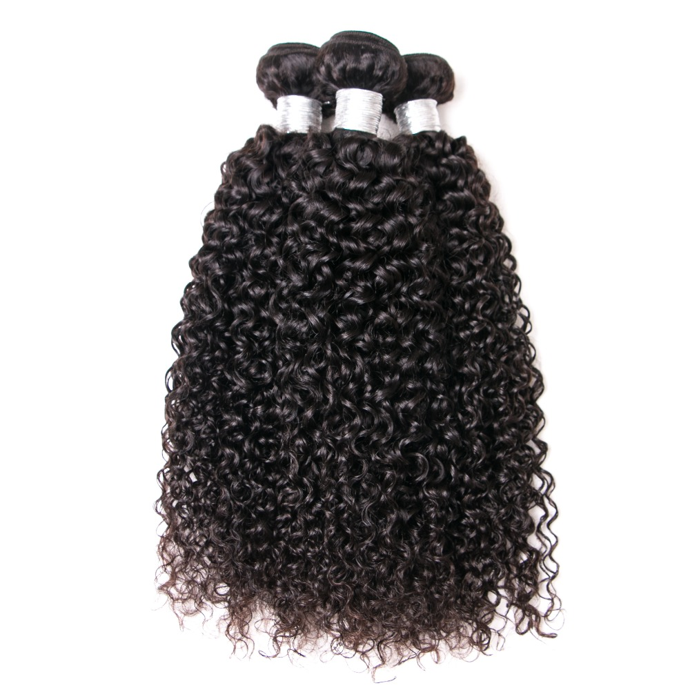 Curly Hair Weave 3Bundle Deals 100% Human Hair Weaving Natural Color JESSENIA HAIR Malaysia Remy Hair Bundles Free Shipping