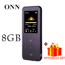 ONN Q9 Pantalla Deporte Digital Sin Pérdidas de Alta Fidelidad de Audio Mp 3 Mini Música Reproductor de Mp3 Radio FM Grabador de Voz 8 GB Con Flac WAV LCD Running