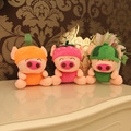 New 18CM fruit pig plush toy doll 7 inch doll wedding gifts Grapple holiday gifts Stuffed Toys
