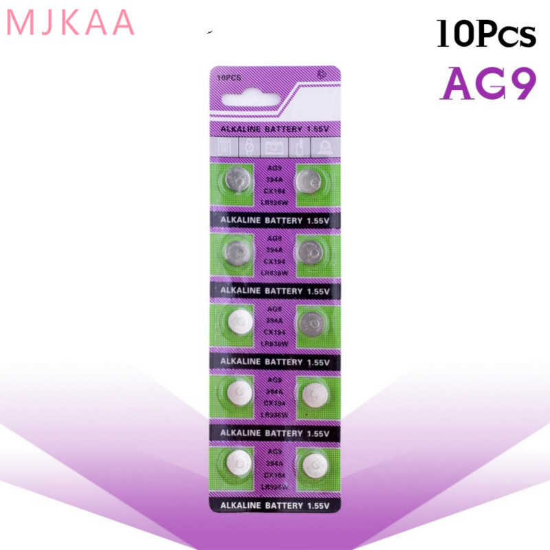 10PCS / pack AG9 SR936SW <font><b>watch</b></font> battery coin battery SR936 936A 194 394 394-1W 280-17 <font><b>x10</b></font> 1.55V button alkaline battery image