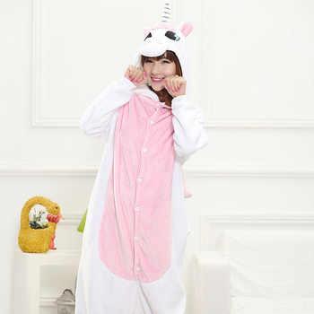 Animal Unicorn Kigurumi Onesie Adult Men Women Sleepwear Pajamas Soft Fancy Anime Unicornio Pijima Overall Nightwear Onepiece