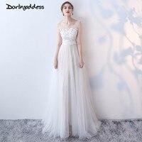 Darlingoddess Robe De Mariage Vintage Boho Beach Wedding Dress 2018 Scoop Open Back Sexy Lace Wedding